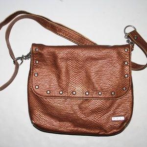 Copper snakeskin ROXY purse